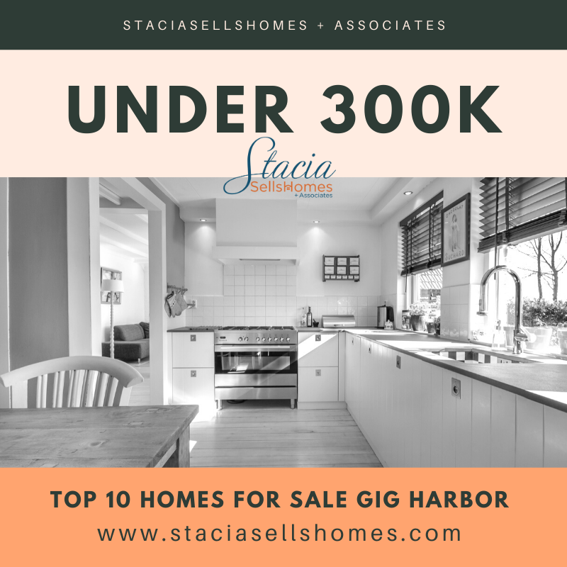 Top 10 Homes For Sale in Gig Harbor Under 300K