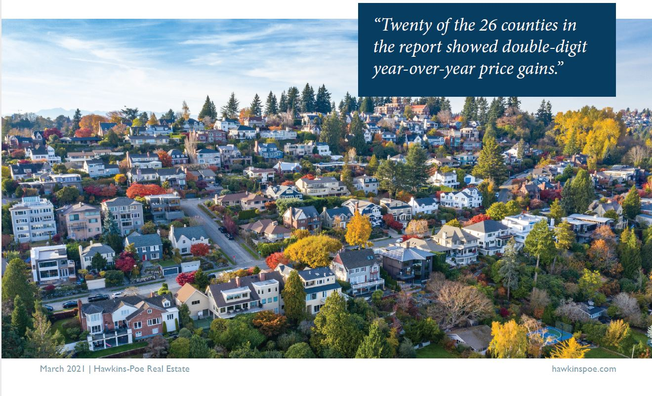 2021 March Hawkins-Poe Monthly Market Report - 26 Counties